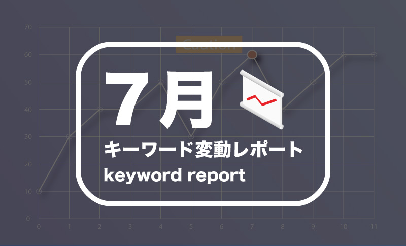 2017年7月キーワード変動レポート