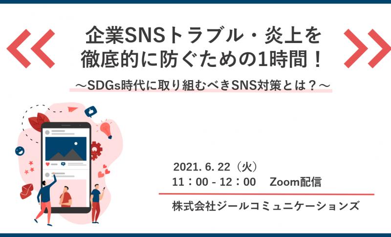 企業SNSトラブル炎上を徹底的に防ぐための1時間!~SDGs時代に取り組むべきSNS対策とは?~